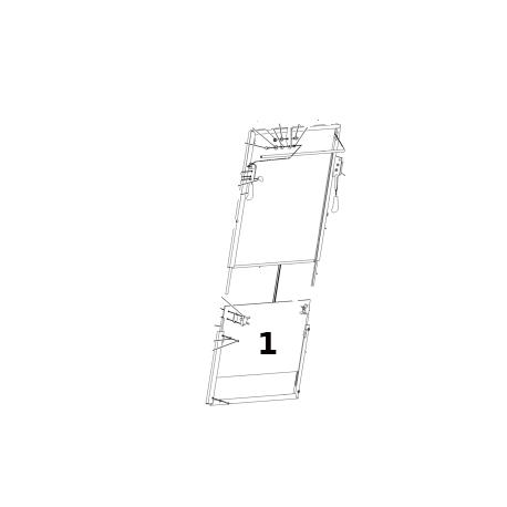 SZYBA 88.5 X 50 HARTOWANA ZIELONA CVA